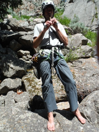 The most badass flute-playing barefoot climber I know, Loren Rausch.