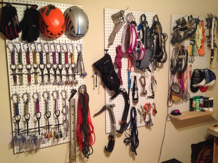 Some of the gear stash, stored per my OCD tendencies.