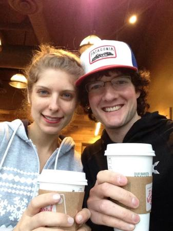 Enjoying a Christmas morning Starbucks run with my amazing girlfriend.