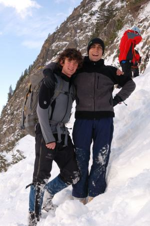 Krzysztof and I ice climbing in the Slovakian Tatras eight years ago on my first climbing trip overseas. It will be sweet indeed to rope up with him again!