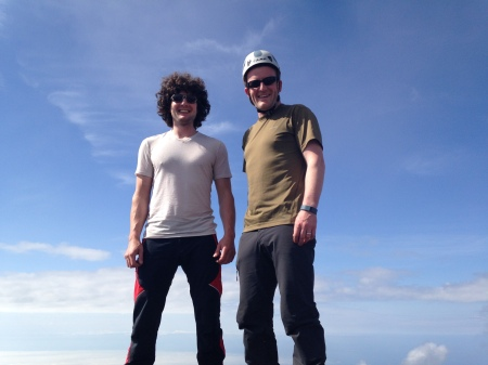 Brothers. Ironically, although we didn't climb our intended objective in the Olympics, we ended up making it to the correct summit of the mountain we had tried to climb over a year earlier.