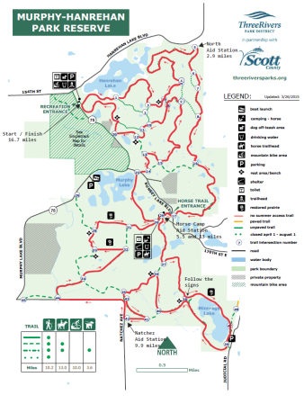 Course map with aid stations marked. Not shown: all the damn hills and mud.