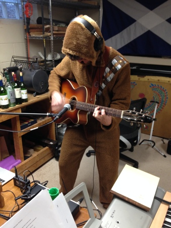 "And by ""this"" I mean playing, writing, and recording music, not dressing up like a furry. My girlfriend got me a Wookie onesie for my birthday and it's very comfortable."