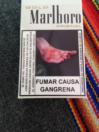 If you smoke, YOUR FOOT WILL FALL APART.