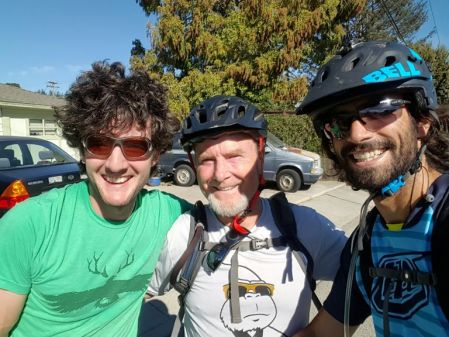 Post-ride with Lance (center) and other Jimmy (right), two of my best friends out here.